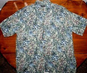 Men's   Van Heusen    Crazy  Hawaiian   Button up    shirt     Large