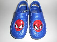 Ultimate Spiderman Molded Comfort Clogs Shoes Blue Youth Boys Size L 2/3 NWT