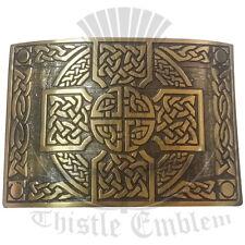 Kilt Hebilla de Cinturón Nudo Celta Diseño Cruzado Acabado Antiguo/Hebillas de Cinturón Escocés