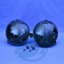 2x Scheinwerfer VW Lupo schwarz mit Leuchtmittel links + rechts Set Klarglas NEU