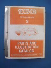 Original 1985-1992 Nova Geo and Prism Parts and Illustration Catalog Book