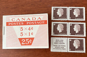 Canada stamp booklet, 1 & 4 cent stamps 1963