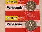 2 pc Panasonic CR1632 LITHIUM 3v BATTERY CR 1632 EXPIRE 06/2027