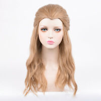 """Thor Cosplay Costume Party Wig 23.6"""" Long Curly Brown Full Wig for Man Women"""