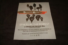 DEPECHE MODE in SPIRITS IN THE FOREST 2019 ad for Global Spirit Tour in Berliin