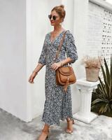 Casual Cocktail Boho Dress Dresses Long Sleeve Loose Maxi Womens Party Evening