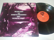 "NELSON EDDY AND JEANETTE MACDONALD SING PATRIOT SONGS 1987 - LP VINILO 12"" VG/VG"