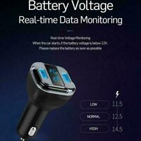 4.2A Dual USB DC5V Blue LED Display GPS Location Tracker Charger Car T0X8