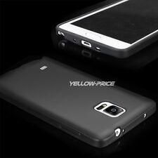 Samsung GALAXY Note 4 Ultra thin Slim Matte Back Soft TPU Case Cover Skin Black