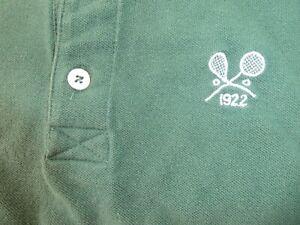 GREEN Medium BOAST men's Racquet Club Chicago 1922 polo shirt
