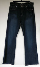 Ms. Firefly Blue Stretch Denim Boot Cut Rhinestone Embellished Pocket Jeans 14
