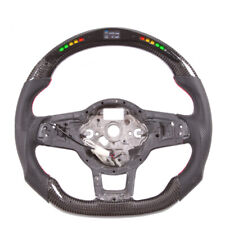 Carbon Fiber Flat Sport Smart Led Steering Wheel for VW Golf MK7 GTI R  Scirocco