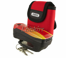 ABUS Detecto 7000 RS1 Sonic Red Alarm Disc Lock Motorcycle Security