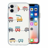 For Apple iPhone 11 Silicone Case Steam Train Pattern - S2810