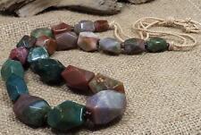 bold look gradual facet ocean Jasper stone necklace/(Y319-w5)