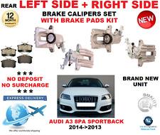 Per Audi A3 8PA Sportback 2004- > 2013 Posteriore Sinistro + Destro Pinze Freno
