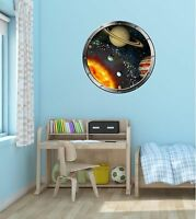 "24"" Porthole Space Ship Window SOLAR SYSTEM #2 SILVER Wall Decal Sticker Graphic"