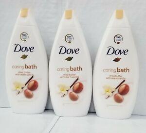 Lot Of 3-Dove Shea Butter & vanilla body Wash 500 ML EACH