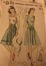1940's DuBarry Pattern 7258 Blouse and Skirt Unprinted Sz 16 Bust 34