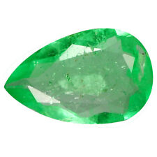0.53 Carat 8x5mm Natural Green COLUMBIAN EMERALD Stone for Jewelry Setting PEAR