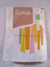 Vintage Stylethrift Thigh High Garter Hose~2 Pair~Mesh