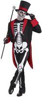 Hommes Élégant OS Squelette Jour des Morts Halloween Déguisement Costume Tenue