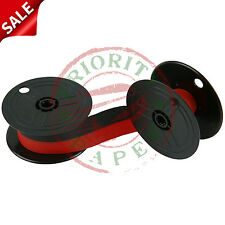 UNIVERSAL TWIN SPOOL CALCULATOR RIBBONS - BLACK & RED - 6 NEW  **FREE SHIPPING**