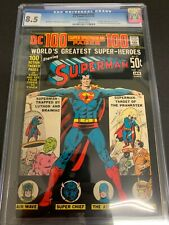 SUPERMAN #245 * CGC 8.5 * (DC, 1972) 100 PAGE GIANT!!  DC-7  WHITE PAGES!!