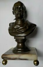 Bronze Bust of a Man on Marble Base