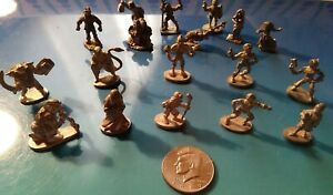 18 Miniature Pewter Figurines Grenadier And Others
