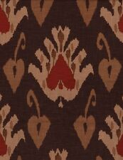Andrew Martin Large Scale Ikat Print Upholstery Fabric- Sokoto Rust 5.45 yd