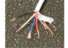 25' stranded 22 ga 4 conductor shielded wire