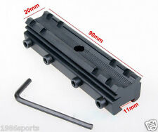 Rail Base 11mm Dovetail to 20mm Weaver Picatinny Mount Adapter Converter #r07