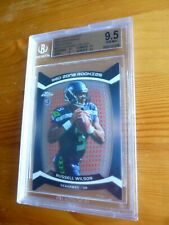 2012 Russell Wilson Topps Chrome MVP Zone Rookies Refractor Graded BGS 9.5 Card