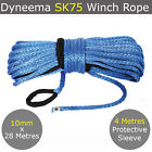 10MM X 28M Dyneema SK75 Winch Rope Synthetic Car Tow Recovery Cable Offroad 4WD