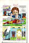 1980's Iron Man 181 original Marvel Comics colorist's color guide comic art page