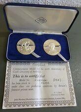 El capitán James Cook descubre Australia Medallón de plata esterlina par por pellizcos