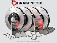 [F&R] BRAKENETIC PREMIUM SLOTTED Brake Disc Rotors + POSI QUIET Pads BPK84239