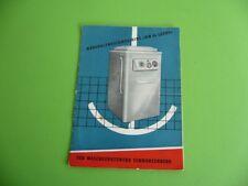 807KL1 DDR Bedienungsanleitung Waschmaschine WM 60 LUXUS, mit Quittung von 1962