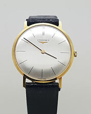 Mint Vintage 18K Solid Gold Longines Ultra Thin Men Watch Cal. 428