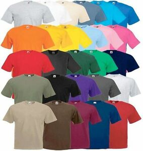 Pink Fruit of the Loom 100% Cotton Plain T-Shirt (Unisex) ( BUY 3 GET 1 FREE)