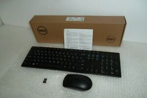 Dell KM636 Wireless PC Multimedia Keyboard w/Volume Mouse Receiver P5YFN WK636p