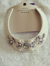 **Brand New** ZARA RIGID NECKLACE WITH PEARLS AND DIAMANTE