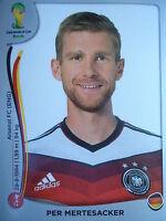 Panini 492 Per Mertesacker Deutschland FIFA WM 2014 Brasilien
