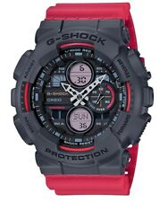Casio G-Shock * GA140-4A Grey and Red Resin Watch for Men Ivanandsophia