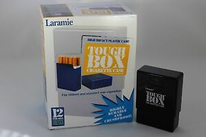 Laramie Tough Box Crush-Proof Plastic 2 Piece Black Cigarette Case King & 100s