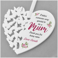 Special Mum PERSONALISED Birthday Hanging Heart Gifts for Mummy Nanny Nanna