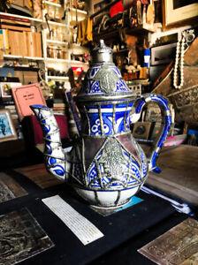 handmade antique moroccan teapot