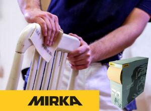 Mirka Goldflex Soft Sanding Roll 115 x 125 mm Tear-Off Flexible Hand Pads (200)