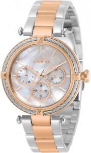 Invicta Womens Bolt Quartz Chronograph 100m Two Tone Stainless Steel Watch 30648
